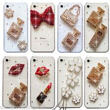 NEW 3D BLING DELUX DIAMANTE HANDBAG SPARKLE CASE COVER IPHONE 4S 5 5S 6 6S 7 8 X