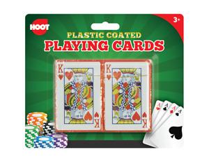 2 Decks of Professional Plastic Coated Playing Cards Poker Game Size Gambling