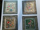 Vintage Chinese Silk Embroidery Panels