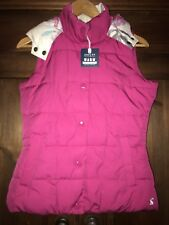 Joules Alana Gilet, Size 8, Dark Pink, BNWT, Jacket, Hood, Body Warmer