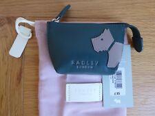 Radley Mono Dog Green Leather Purse BNWT RRP £35 With Dust Bag