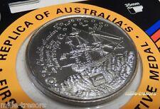 Réplique 1ère Médaille COMMEMORATIVE d'AUSTRALIE 1778 1992 CHARLOTTE - KODAK