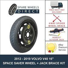 """VOLVO V40 2012 - 2019 16"""" SPACE SAVER SPARE WHEEL + JACK KIT (F1)"""