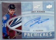 Joey Hishon 2014-15 Upper Deck Ice Rookie Premieres Patch Auto/Autograph Card/10
