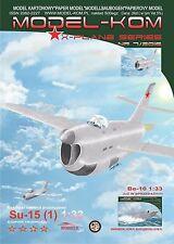 Soviet Prototype Su-15 Interceptor Plane + Laser Frames Paper Model Scale 1:33