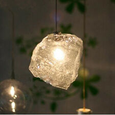 Fashion Crystal Glass Chandelier Stone Ice LED Indoor Lighting Ceiling Lights