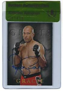 Royce Gracie Signed 2014 Topps UFC Champions Octagon Greats Card BAS Beckett COA