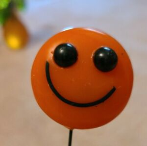 Vintage Mid Century Three Happy Face Lucite Resin Happy Smiley Face Flower