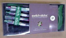 Switch Sticks Folding Walking Stick Cane NIB-Green Mosiac Vienna  Design