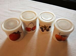 4 verschiedene  ASA Trattoria Keramikbehälter für Konfitüre im Set