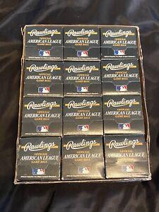 (12)  UNOPENED 1994-99 Gene Budig Rawlings Official American League Baseball