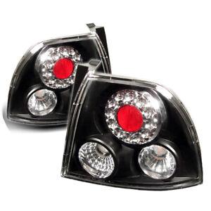 Fit Honda 94-95 Accord Coupe / Sedan Black LED Rear Tail Brake Lights DX EX LX