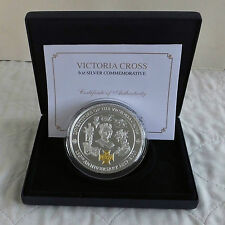 2007 VICTORIA CROSS & BRITANNIA 5oz .999 SILVER PROOF WITH GOLD INLAY - complete