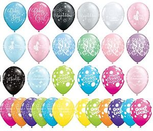 """Pack of 5 - Qualatex 11"""" Special Occasions Party Celebration Balloons Helium/Air"""