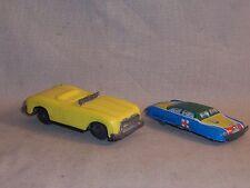 Vintage Antique TN tin Ambulance & Line Mar Toys yellow convertible Japan made