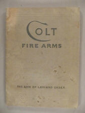 Colt Fire Arms CATALOG - January, 1933~~ firearms, pistol, revolver