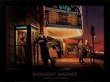 MIDNIGHT MATINEE PRINT CHRIS CONSANI Elvis Monroe James Dean 32X24 poster movies