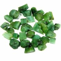 62.60Cts Natural Brazil tiny Green Emerald Loose Gemstone Rough Specimen Lot