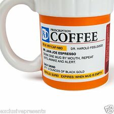 Prescription Coffee Mug Doctor Pill Bottle Funny Gift Cup New Present WoW Fun
