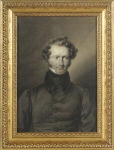 "Franz Krueger (1797-1857) ""Portrait of a gentleman"", charcoal drawing, 1820s"