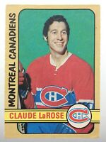 1972-73 Claude LaRose Montreal Canadiens 231 OPC O-Pee-Chee Hockey Card S001