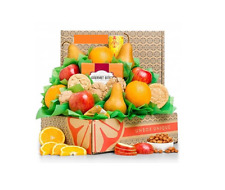Fruit Lovers Apples Pears Apricots Cheese Cookies Gift Basket New Free Shipping
