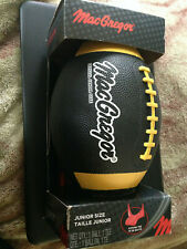Mac Gregor Junior Size Football, Black -New in Package- with Kicking Tee