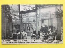Rare BELGIQUE EXPO GAND 1910 STAND CIGARETTES ALBA J. TIROU-DIRICQ à CHARLEROI