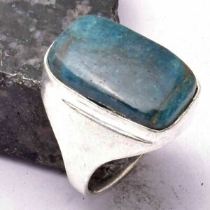 Kyanite Ethnic Handmade Man's Ring Jewelry US Size-8.5 AR 26897