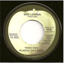 YOKO ONO/PLASTIC ONO BAND 45  Mrs. Lennon / Midsummer In New York - NM