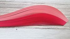 100 quilling paper strips in two shades of pink  - 3mm  wide