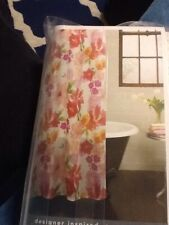 Excell Home Fashions Posie Fabric Shower Curtain, 70 X 72, NIP