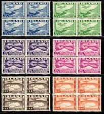 Iceland Airmail Blocks of 4. Mnh C15-C20