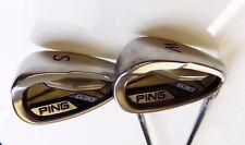 Set of 2 x Ping G30 Black Dot  Irons PW & SW CFS R Flex Steel Shafts Ping Grips