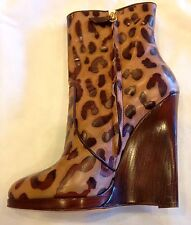 BEAUTIFUL CASADEI ITALIAN LEATHER ANIMAL  PRINT WEDGE BOOTS!!