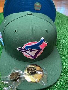 """Hat Club Exclusive Toronto Blue Jays 10th 86"""" 5950 Peacock Collection NBL UV"""