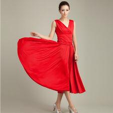 Latin Ballroom Dance Dress Modern Salsa Waltz Standard Long Dress#W094 4 Colors
