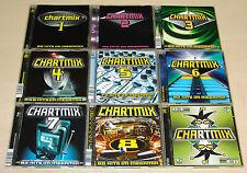 18 CD raccolta chartmix 1-9 SCOOTER Tom Novy Rammstein ATB Gigi Agostino Sylver