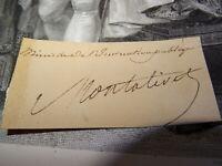 Comte MONTALIVET SIGNATURE AUTOGRAPHE BACHASSON MONARCHIE JUILLET MINISTRE 1832