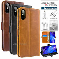 Leather Wallet Magnetic Cover Card Case For Apple iPhone Xr Xs Max + Accessories