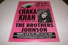 Chaka Khan Poster from TRAMPS in New York City1994(Original and Extremely Rare)