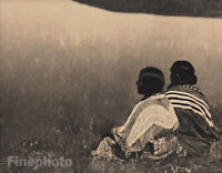 c.1900/72 EDWARD CURTIS Native American Indian Piegan Meditation Photo Art 12x16