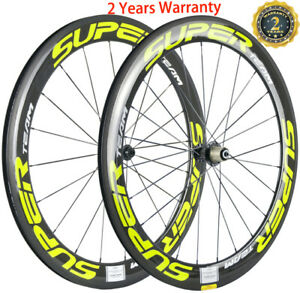 60mm Carbon Wheels Ceramic Bearing Carbon Cycle Wheelset 700C Road Bike Clincher