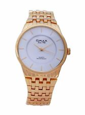 Gold Plated Band Men's Analogue Round Wristwatches