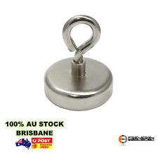 2 x Strong Neodymium EYELET Magnets 25mm 22kg Rare Earth Hook Magnet Holder