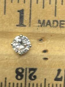14KT Yellow Gold 0.35CT GENUINE Diamond Single Stud Earring