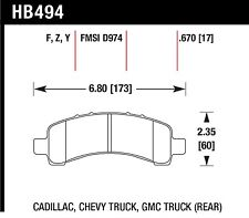 Hawk Performance HB494Z.670 Stable Friction Output Disc Brake Pads