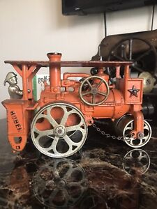 Hubley Huber Cast Iron Steam Roller With Original Driver