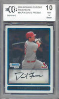 2009 bowman chrome prospects #38 DAVID FREESE rookie BGS BCCG 10