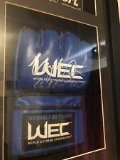 Uriah Faber Autographed Rare WEC Glove
